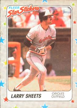 1988 Fleer Sticker Baseball Cards        004      Larry Sheets