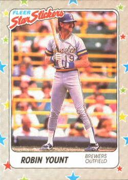 1988 Fleer Sticker Baseball Cards        040      Robin Yount