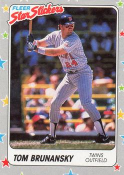 1988 Fleer Sticker Baseball Cards        042      Tom Brunansky