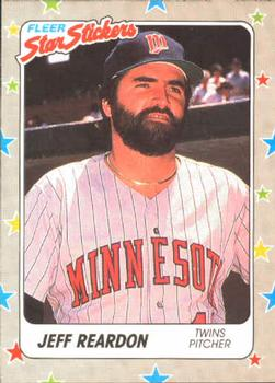 1988 Fleer Sticker Baseball Cards        046      Jeff Reardon