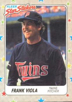 1988 Fleer Sticker Baseball Cards        047      Frank Viola