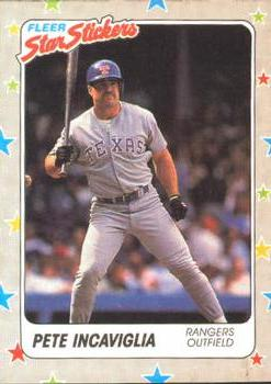 1988 Fleer Sticker Baseball Cards        065      Pete Incaviglia