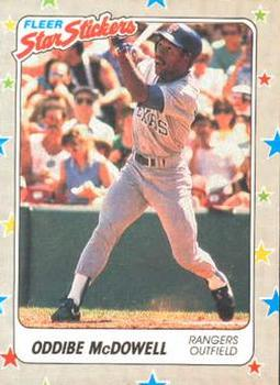 1988 Fleer Sticker Baseball Cards        066      Oddibe McDowell