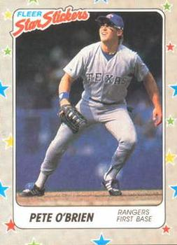 1988 Fleer Sticker Baseball Cards        067      Pete O Brien