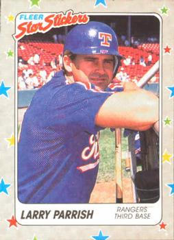 1988 Fleer Sticker Baseball Cards        068      Larry Parrish
