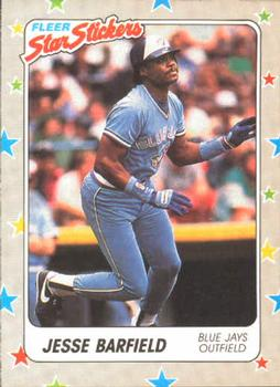 1988 Fleer Sticker Baseball Cards        070      Jesse Barfield