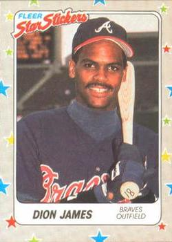 1988 Fleer Sticker Baseball Cards        076      Dion James