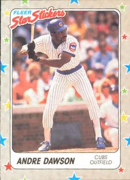 1988 Fleer Sticker Baseball Cards        079      Andre Dawson