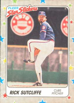1988 Fleer Sticker Baseball Cards        081      Rick Sutcliffe