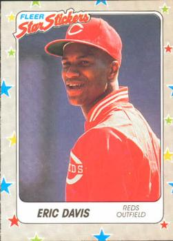 1988 Fleer Sticker Baseball Cards        083      Eric Davis