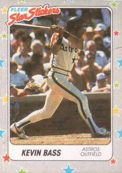 1988 Fleer Sticker Baseball Cards        085      Kevin Bass
