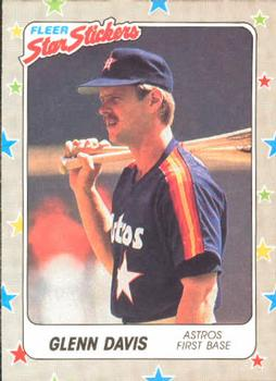 1988 Fleer Sticker Baseball Cards        086      Glenn Davis