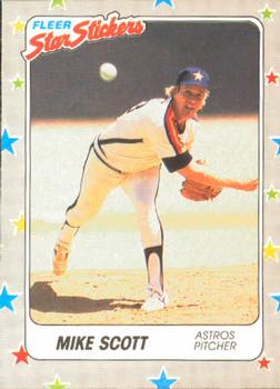 1988 Fleer Sticker Baseball Cards        089      Mike Scott