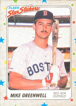 1988 Fleer Sticker Baseball Cards        009      Mike Greenwell