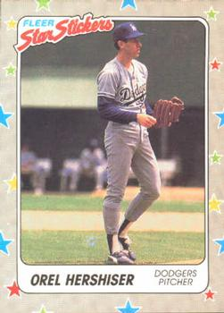 1988 Fleer Sticker Baseball Cards        092      Orel Hershiser