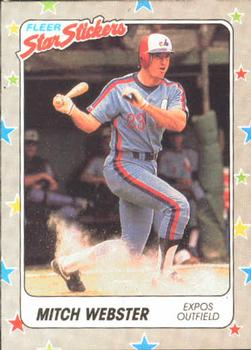 1988 Fleer Sticker Baseball Cards        099      Mitch Webster