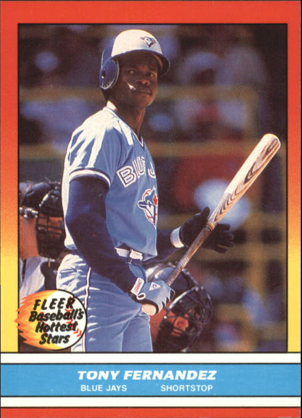 1988 Fleer Hottest Stars Baseball Cards        010      Tony Fernandez