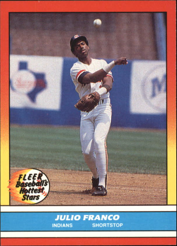 1988 Fleer Hottest Stars Baseball Cards        011      Julio Franco