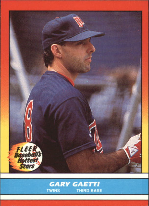 1988 Fleer Hottest Stars Baseball Cards        012      Gary Gaetti