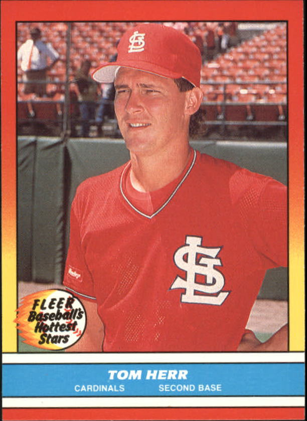 1988 Fleer Hottest Stars Baseball Cards        018      Tom Herr