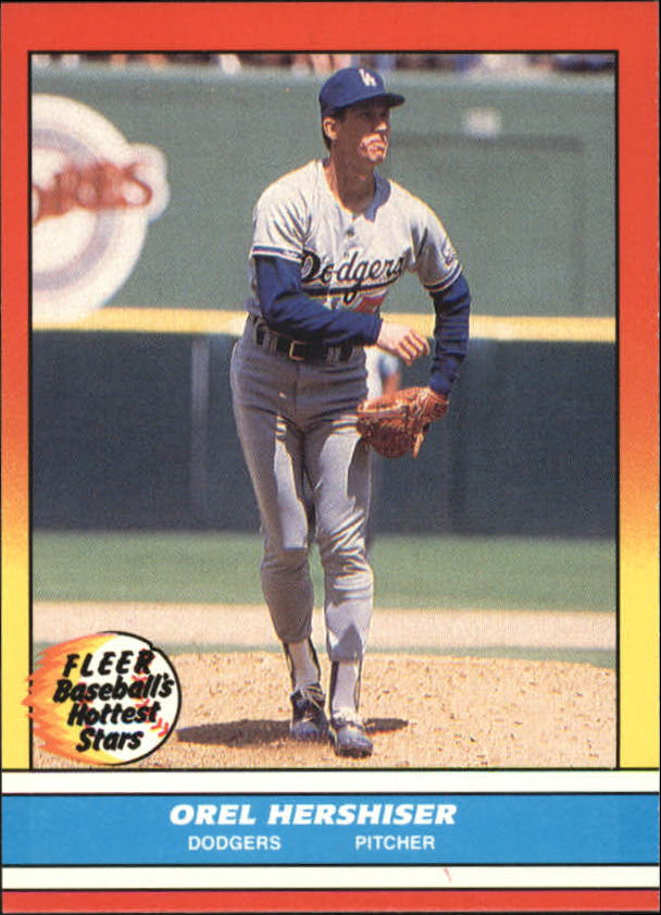 1988 Fleer Hottest Stars Baseball Cards        019      Orel Hershiser