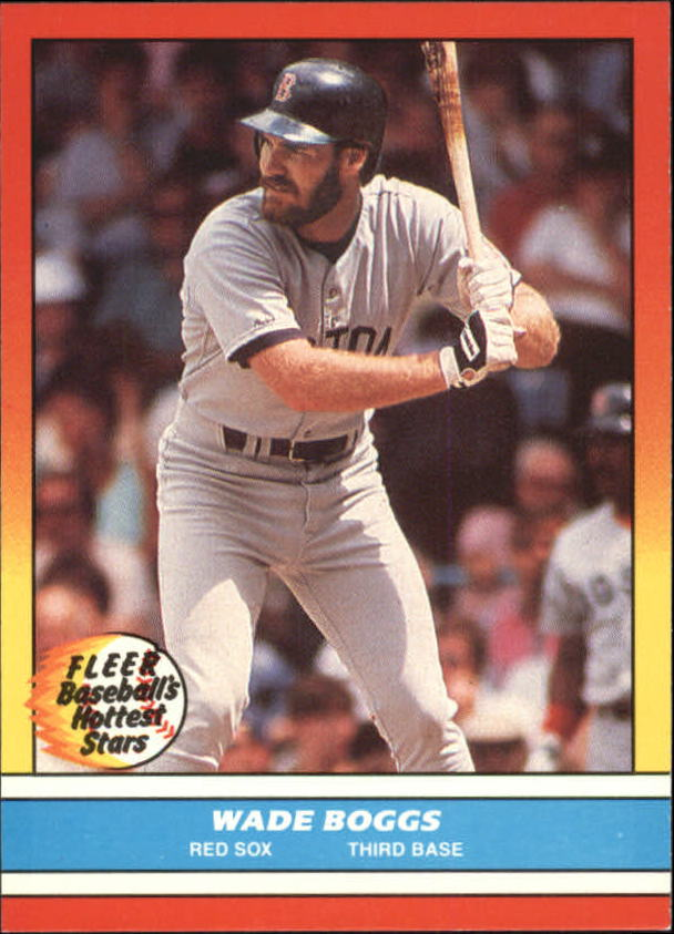 1988 Fleer Hottest Stars Baseball Cards        002      Wade Boggs