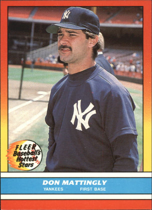1988 Fleer Hottest Stars Baseball Cards        024      Don Mattingly