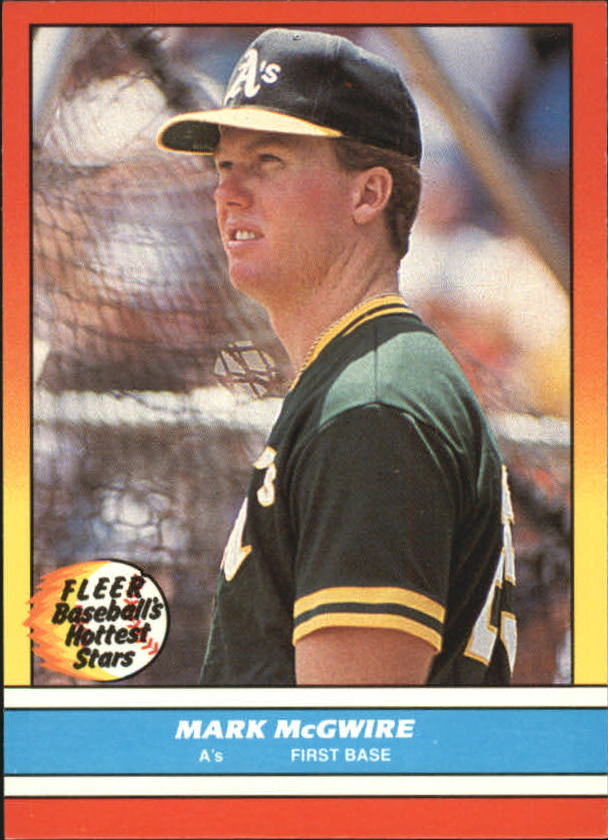 1988 Fleer Hottest Stars Baseball Cards        026      Mark McGwire