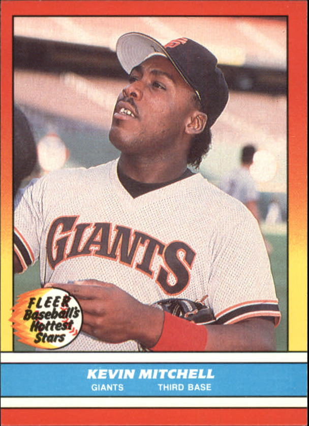 1988 Fleer Hottest Stars Baseball Cards        027      Kevin Mitchell