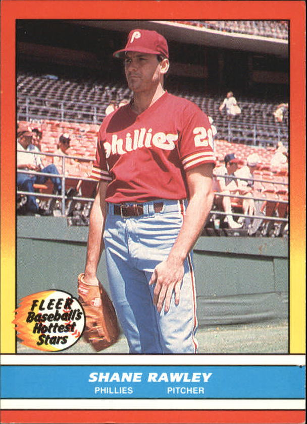 1988 Fleer Hottest Stars Baseball Cards        032      Shane Rawley