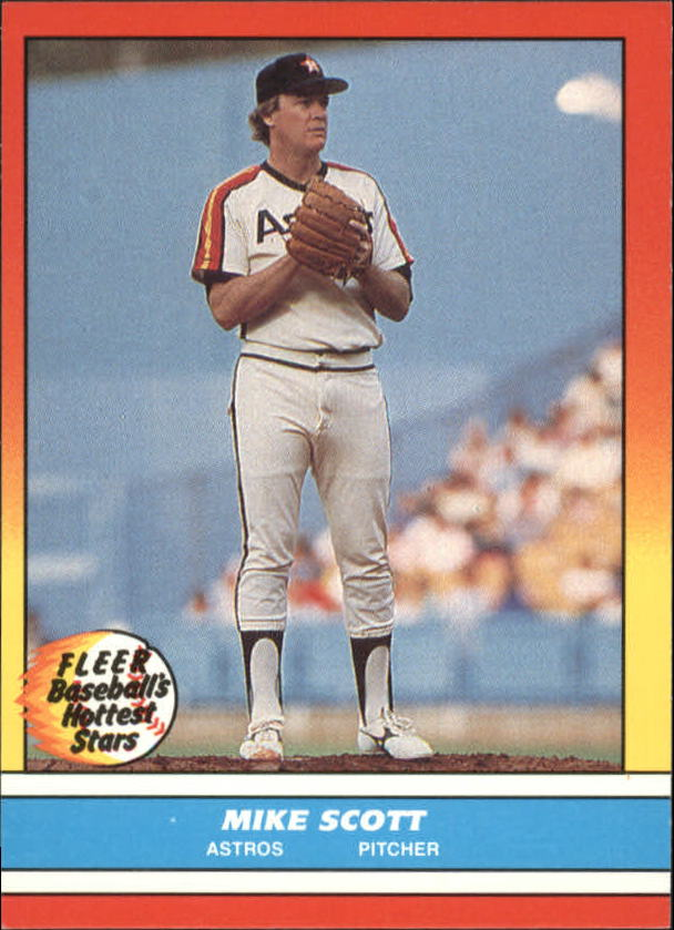 1988 Fleer Hottest Stars Baseball Cards        035      Mike Scott