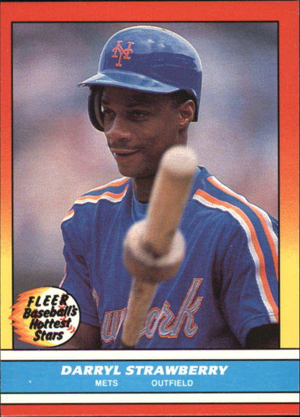 1988 Fleer Hottest Stars Baseball Cards        041      Darryl Strawberry