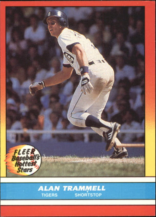 1988 Fleer Hottest Stars Baseball Cards        044      Alan Trammell