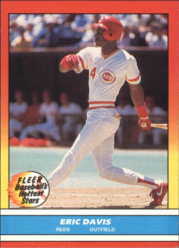 1988 Fleer Hottest Stars Baseball Cards        008      Eric Davis