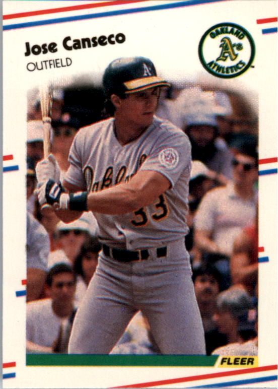 1988 Fleer Mini Baseball Cards 045      Jose Canseco