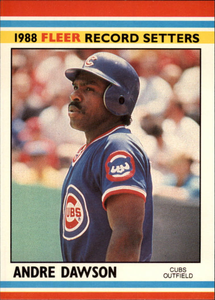 1988 Fleer Record Setters Baseball Cards       010      Andre Dawson