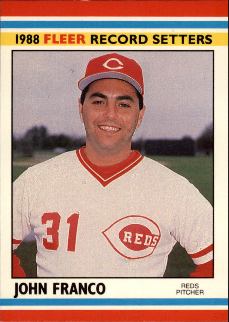 1988 Fleer Record Setters Baseball Cards       012      John Franco