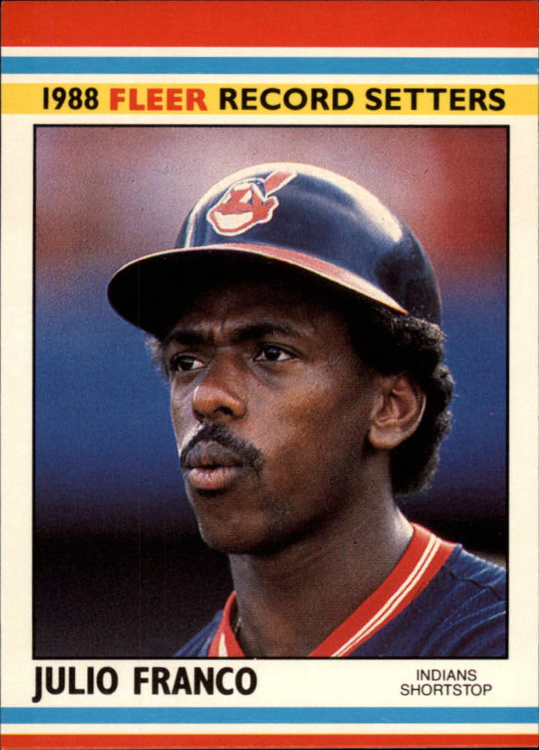 1988 Fleer Record Setters Baseball Cards       013      Julio Franco