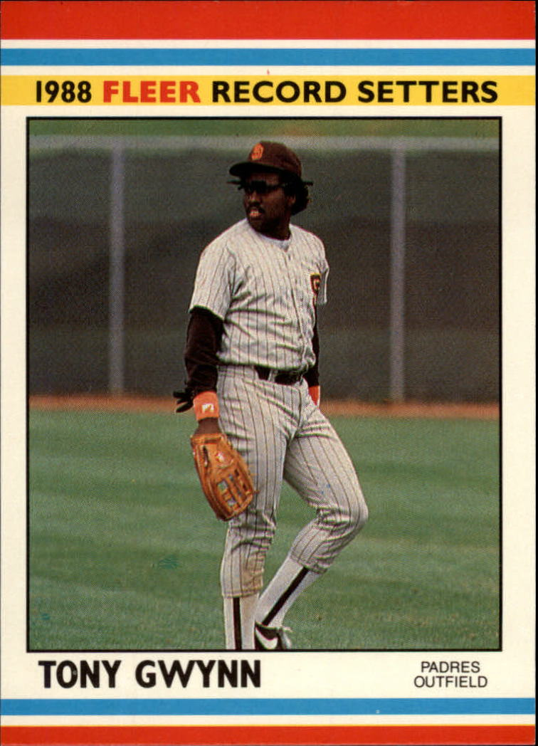 1988 Fleer Record Setters Baseball Cards       017      Tony Gwynn