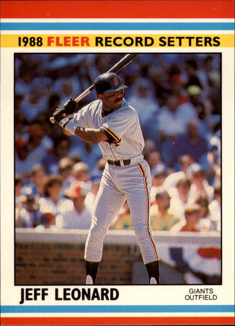 1988 Fleer Record Setters Baseball Cards       023      Jeff Leonard