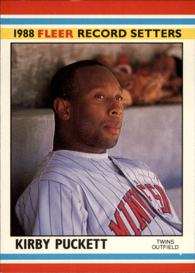 1988 Fleer Record Setters Baseball Cards       029      Kirby Puckett