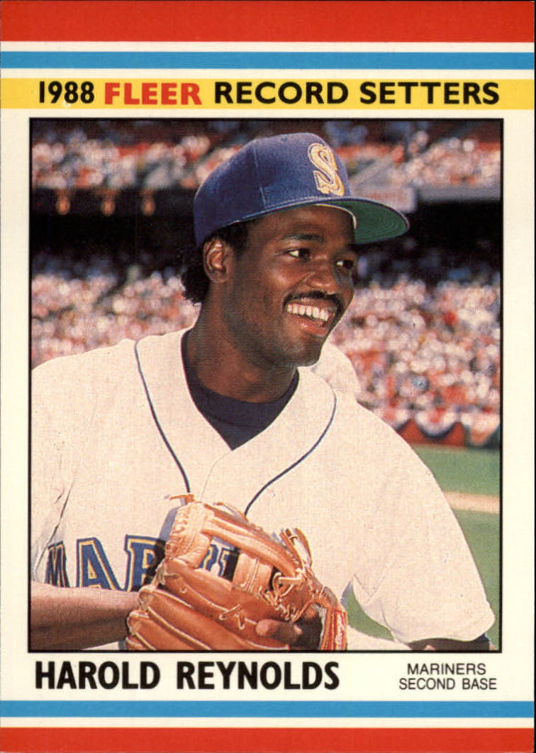 1988 Fleer Record Setters Baseball Cards       031      Harold Reynolds