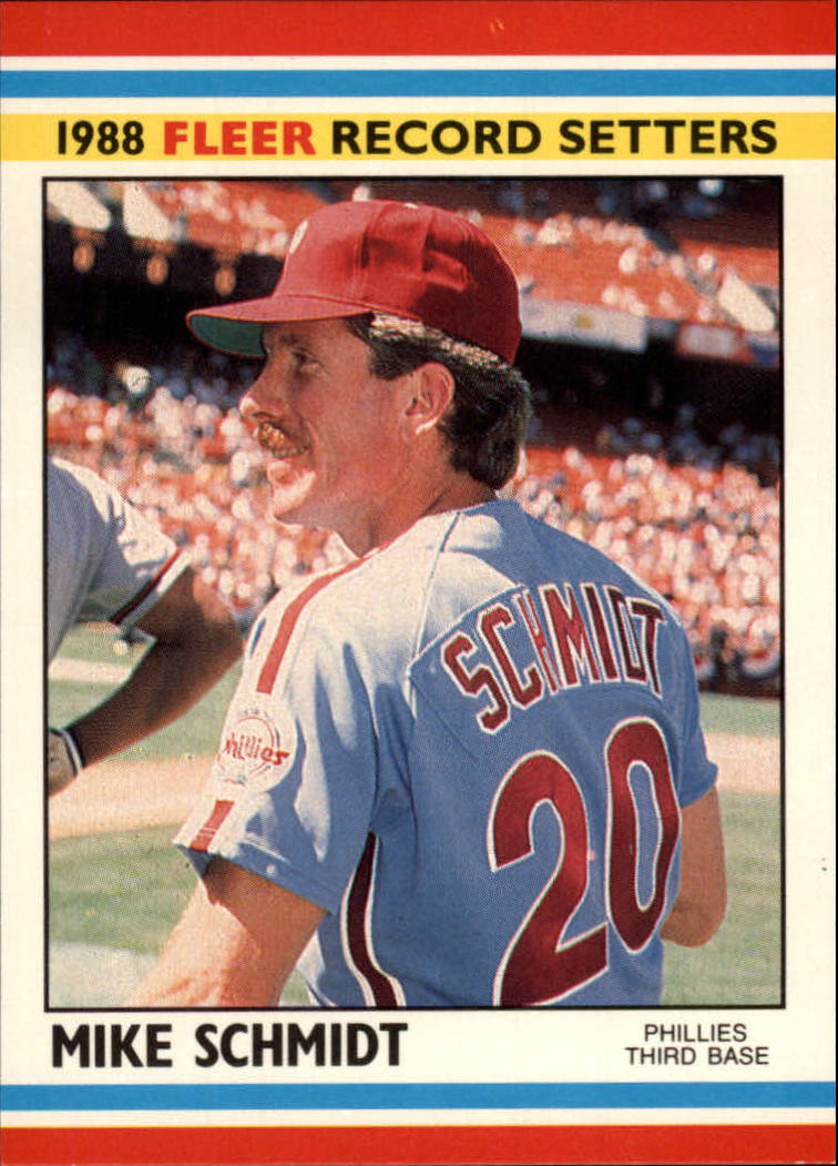 1988 Fleer Record Setters Baseball Cards       035      Mike Schmidt