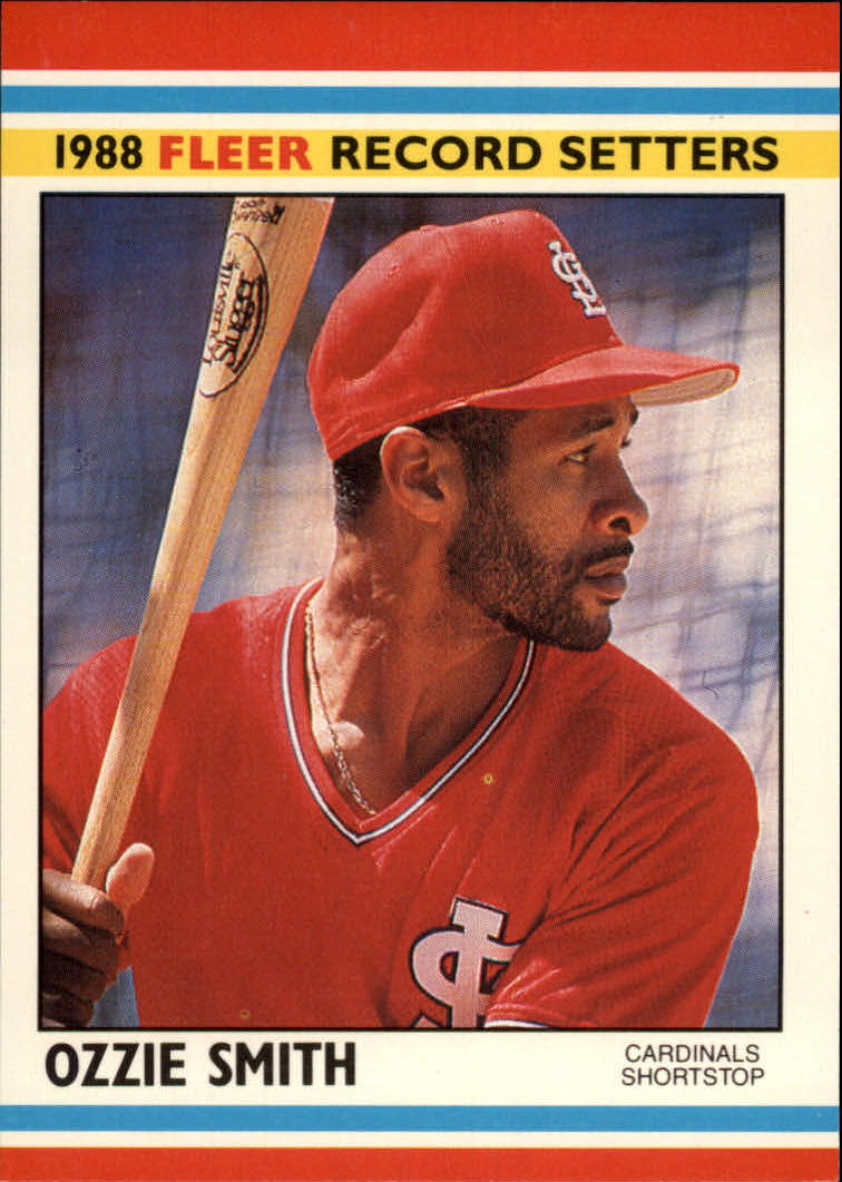 1988 Fleer Record Setters Baseball Cards       038      Ozzie Smith