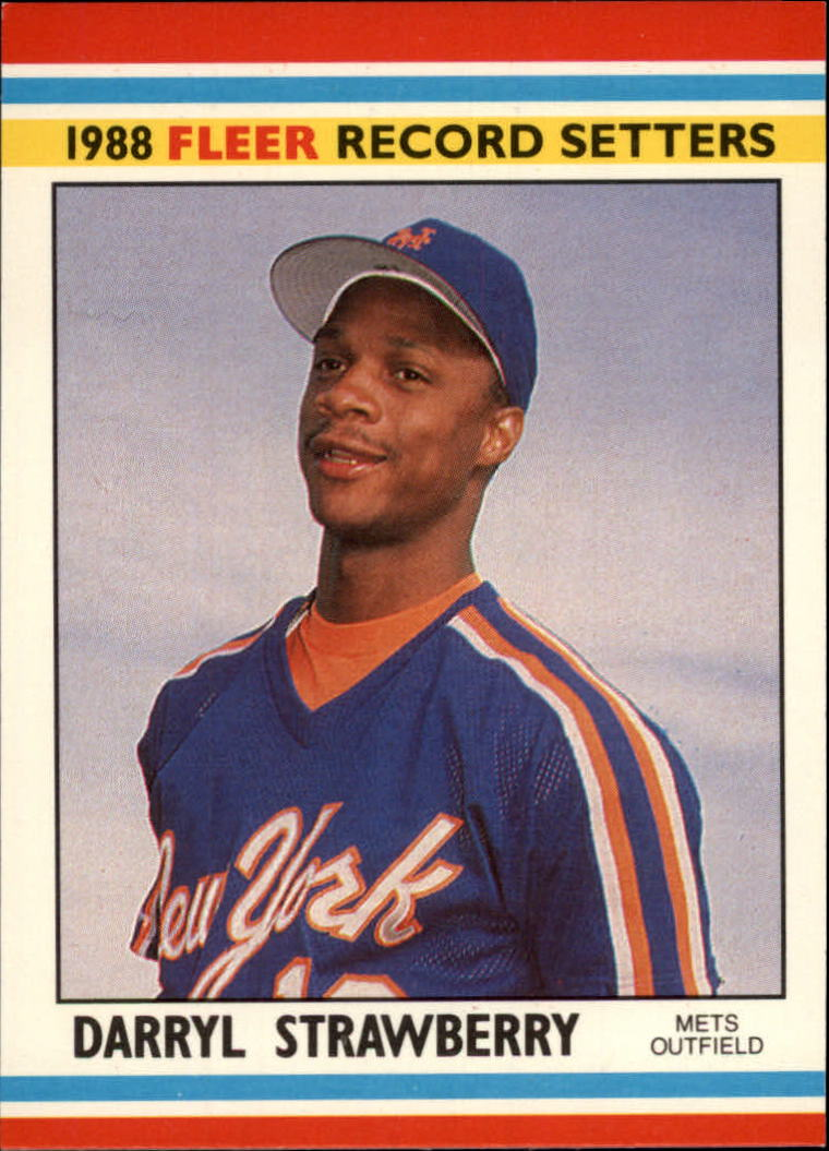 1988 Fleer Record Setters Baseball Cards       039      Darryl Strawberry