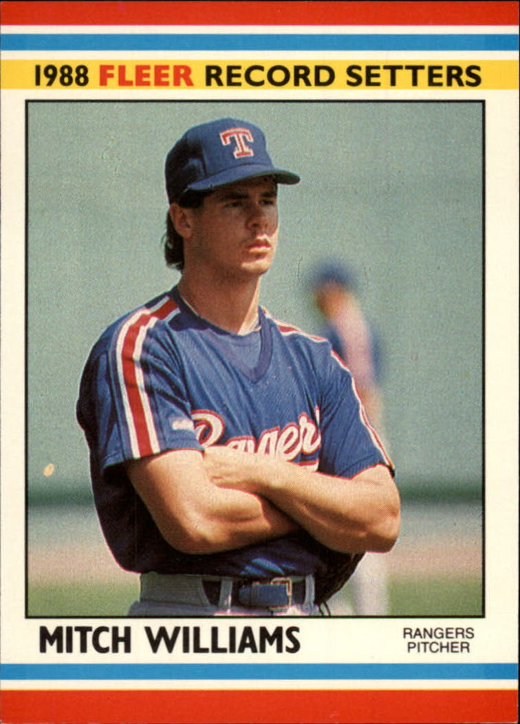 1988 Fleer Record Setters Baseball Cards       043      Mitch Williams