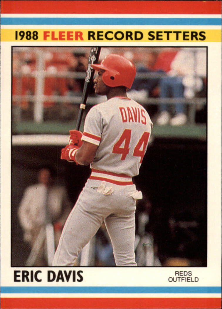 1988 Fleer Record Setters Baseball Cards       009      Eric Davis