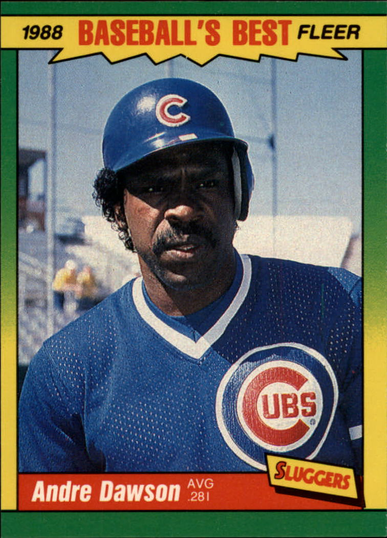 1988 Fleer Sluggers/Pitchers Baseball Cards    012      Andre Dawson