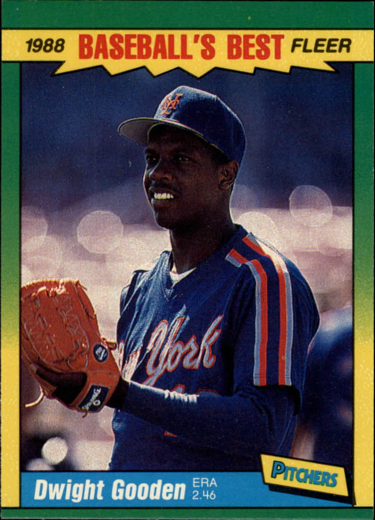 1988 Fleer Sluggers/Pitchers Baseball Cards    015      Dwight Gooden