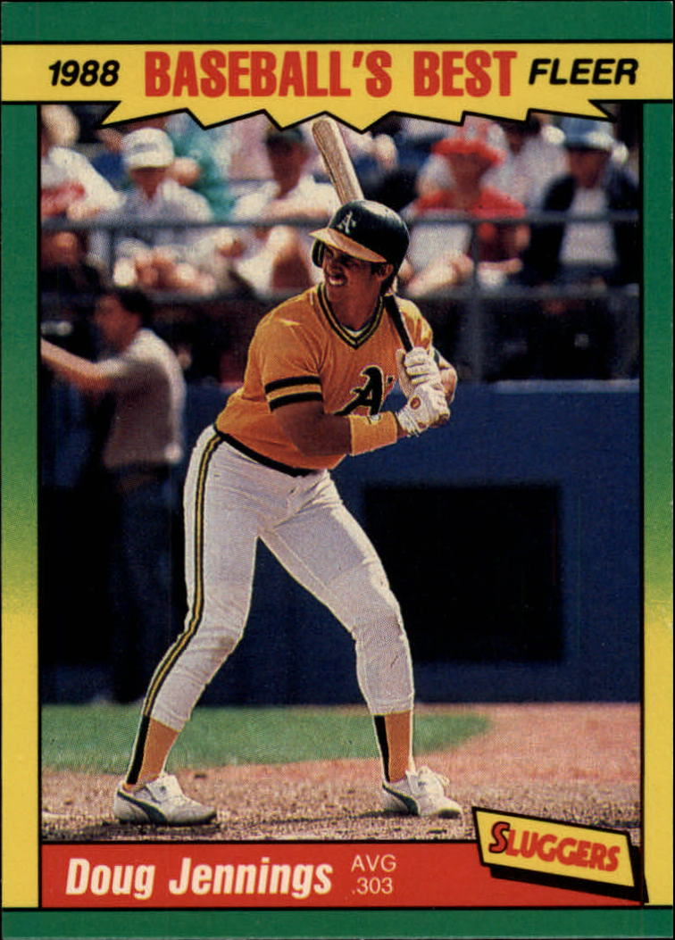 1988 Fleer Sluggers/Pitchers Baseball Cards    022      Doug Jennings